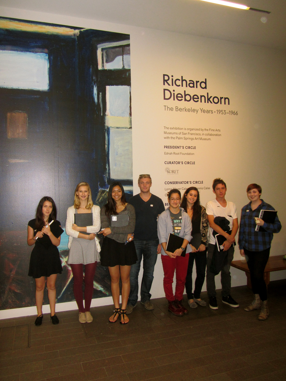 The Bay School Visits deYoung Diebenkorn Exhibit