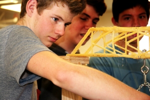 Emmet Pfau Testing Pasta Bridge