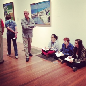 Diebenkorn Paintings and Bay Students