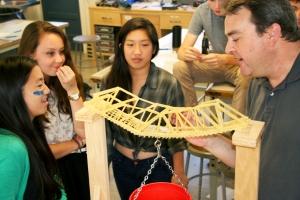 Three Girls and Brad Pasta Bridges Broken