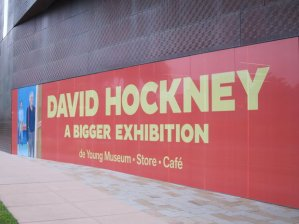 David Hockney at the de Young