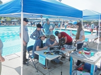 Operating the ROV solely from video screens