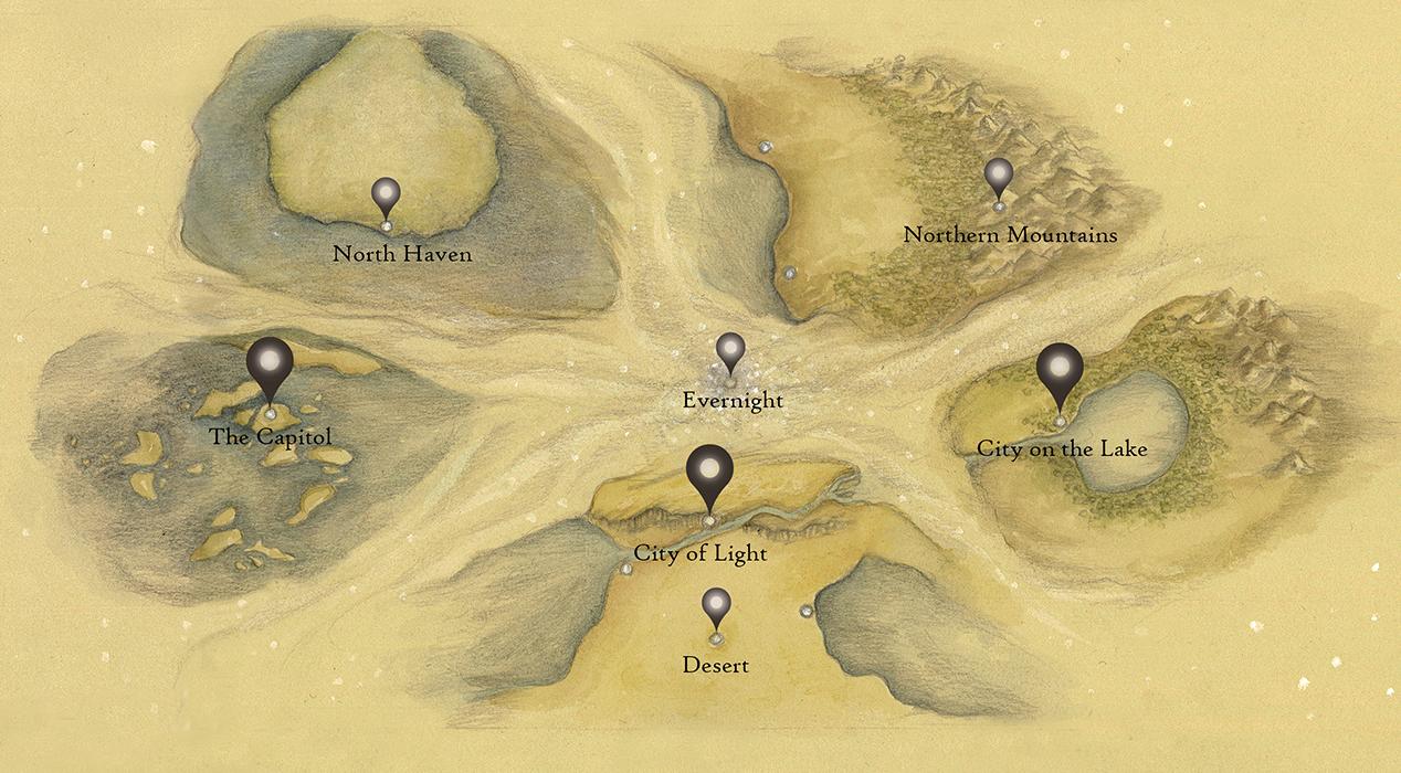 Full map of the world of the Children of Vasae'ah
