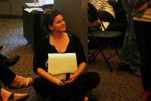 Katherine Riley at Rehearsal