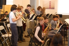 The San Francisco Friends School Band at Jazz Fest