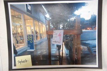 Artist As Activist - student artwork making political statements and posted around San Francsico